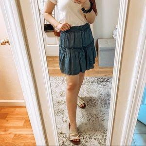 Kate Spade Chambray Tier Skirt